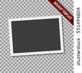 realistic blank photography... | Shutterstock .eps vector #551494804