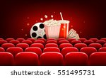 cinema background with a film... | Shutterstock .eps vector #551495731