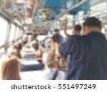 Blurred Image Of People Sittin...