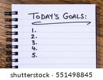 a list of goals to be achieved... | Shutterstock . vector #551498845