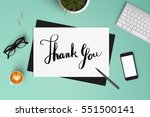 thank you on paper with smart... | Shutterstock . vector #551500141