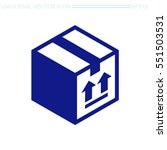 free shipping vector icon.... | Shutterstock .eps vector #551503531