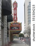 Small photo of STOCKTON, CALIFORNIA - JANUARY 6, 2017: The historical landmark, The Bob Hope Theater, was built in 1930. It was rebuilt by Alex Spanos to honor his friend Bob Hope.