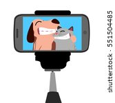 colored conceptual selfie... | Shutterstock .eps vector #551504485