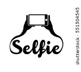 colored conceptual selfie... | Shutterstock .eps vector #551504545