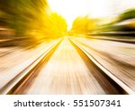 Motion Blur Of Railway Moving...