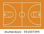 a basketball court illustration ... | Shutterstock .eps vector #551507395