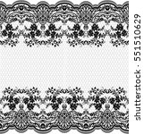 seamless lace pattern  flower... | Shutterstock .eps vector #551510629