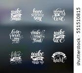 set of handwritten lettering... | Shutterstock .eps vector #551510815