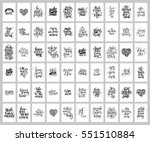 mega set of 60 hand written... | Shutterstock .eps vector #551510884