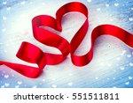valentine heart. elegant red... | Shutterstock . vector #551511811