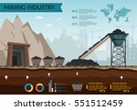 coal mining industry and... | Shutterstock .eps vector #551512459