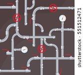 pipeline system vector... | Shutterstock .eps vector #551512471