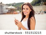 portrait of beautiful smiling... | Shutterstock . vector #551513215