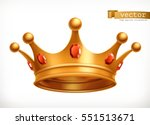 gold crown of the king 3d... | Shutterstock .eps vector #551513671