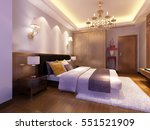 3d rendering bed room | Shutterstock . vector #551521909
