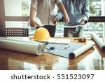 business man and construction... | Shutterstock . vector #551523097