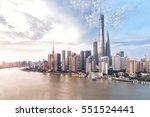 shanghai skyline and cityscape | Shutterstock . vector #551524441