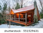 Small photo of Interior shot of a typical Adirondacks wood cabin in upstate new york.