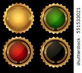 vector set of gold with laurel... | Shutterstock .eps vector #551533021