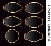 vector of black glossy golden... | Shutterstock .eps vector #551534245