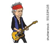 keith richards of the rolling... | Shutterstock .eps vector #551539135