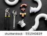 concept plumbing work top view... | Shutterstock . vector #551540839