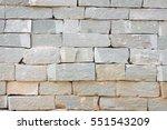 grey brick and rough sandstone...   Shutterstock . vector #551543209