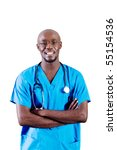 Young African American Doctor...