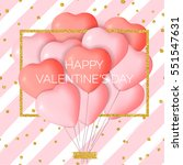 happy valentine's day card... | Shutterstock .eps vector #551547631