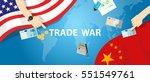 trade war america china tariff...   Shutterstock .eps vector #551549761