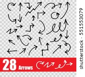 hand drawn arrow set collection ... | Shutterstock .eps vector #551553079