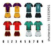 a vector illustration of soccer ... | Shutterstock .eps vector #551553901