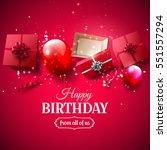 luxury birthday greeting card... | Shutterstock .eps vector #551557294