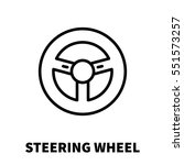 steering wheel icon or logo in...