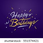 happy birthday greeting card... | Shutterstock .eps vector #551574421