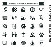 business icons   gray series ... | Shutterstock .eps vector #551576041