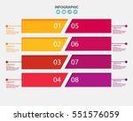 infographic design template...   Shutterstock .eps vector #551576059