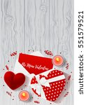 valentine's day greeting poster.... | Shutterstock .eps vector #551579521