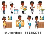 african american man cooking... | Shutterstock .eps vector #551582755