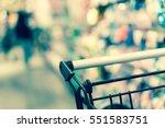 shopping cart in supermarket... | Shutterstock . vector #551583751