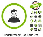 user pictograph with free bonus ... | Shutterstock . vector #551585095