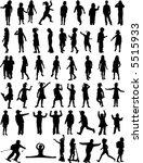silhouettes chlilndrens | Shutterstock .eps vector #5515933