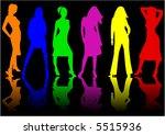 beautiful girls   color  ... | Shutterstock .eps vector #5515936