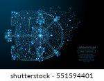 polygonal bank vault door in... | Shutterstock .eps vector #551594401