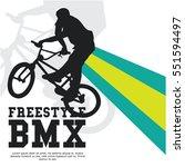 bmx event poster design | Shutterstock .eps vector #551594497