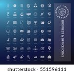 business and office icon set... | Shutterstock .eps vector #551596111