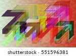 place around different arrows... | Shutterstock .eps vector #551596381