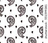 seamless pattern based on... | Shutterstock .eps vector #551599381