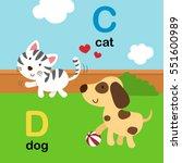 Alphabet Letter C Cat D Dog...